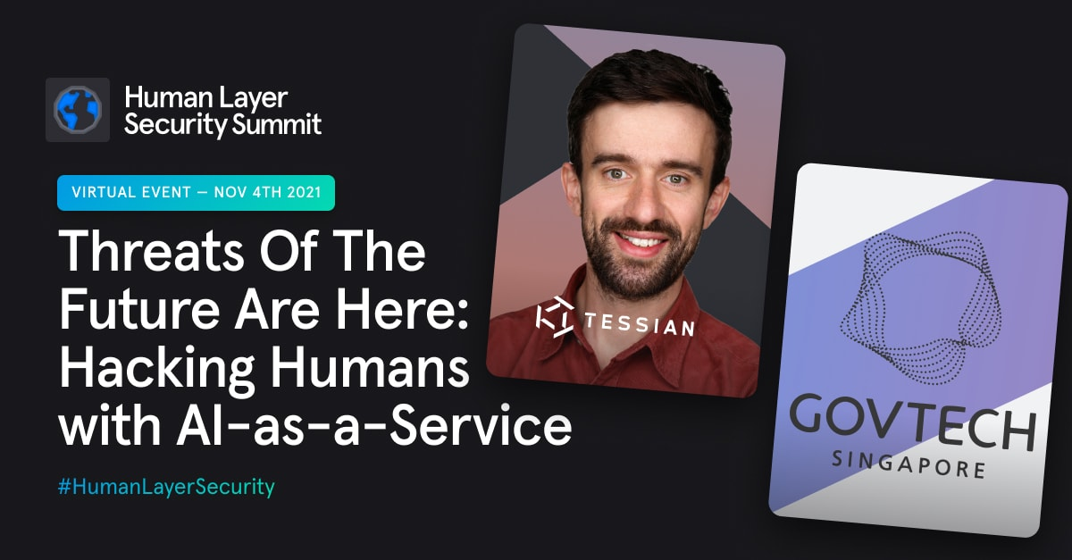 Human Layer Security Summit –Head shots of the speakers